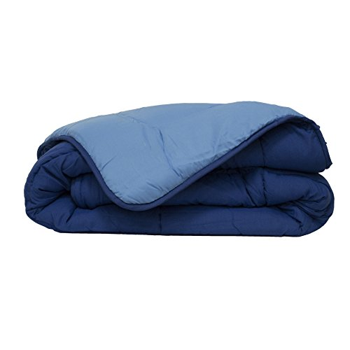 Poyet Motte Calgary Bettbezug Polyester Gitane/azurblau, Polyester, Gitane/Azur, 200x140x1 cm