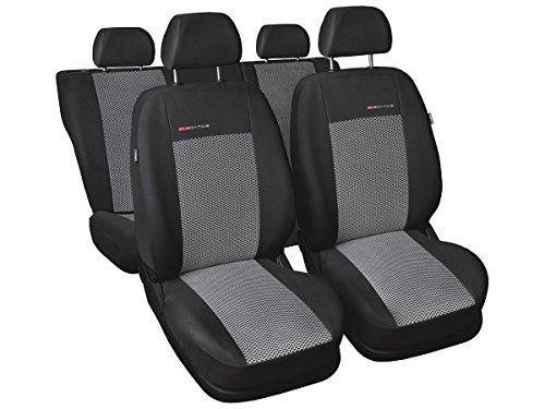 Skoda Fabia - Fundas de asiento a medida para coche, ajuste perfecto, fundas protectoras de asiento de terciopelo + acolchado de punto, decoración para coche (Fabia I 3 P2)