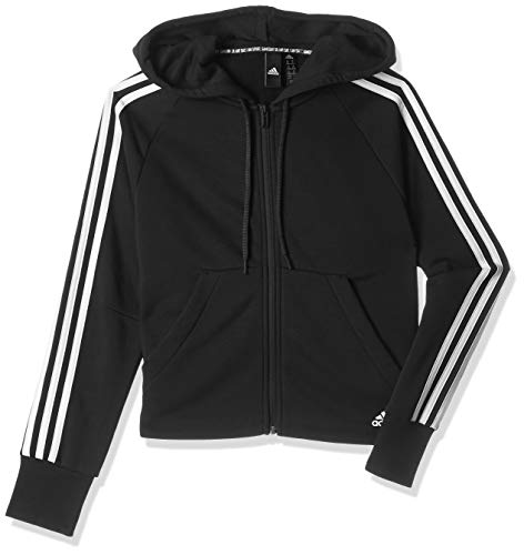 adidas Damen Must Haves 3-Streifen Kapuzenjacke, Black, L