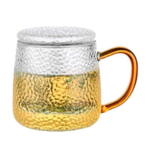 Theekopjes,320 Ml Hoge Borosilicaatglas Koffiekopje Mok Bloem Thee Glazen Bekers Voor Warme En Koude Dranken Theekop Perfecte Cadeau 7.5 * 9cm Doorzichtig