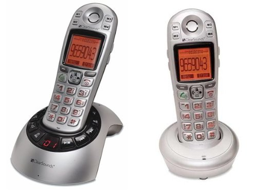 Clearsounds A600 Amplified Talking DECT 6.0 Cordless Phone with Additional Handset Included (A600BUN)