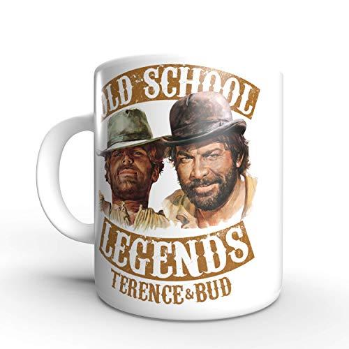 Terence Hill Old School Legends Bud Spencer - Tasse rund (330ml)