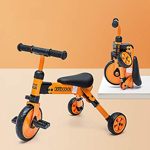 Sharesun 2-in-1 kinderdriewieler voor kinderen, driewieler voor kinderen van 2 tot 6 jaar, driewieler met 3 wielen voor kinderen
