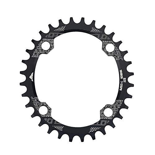 Alomejor Fahrrad-Kettenring, Aluminiumlegierung, breit, BCD, 104 mm, oval, 32T, 34T, 38T, Einzelgang-Kettenblatt, 38T