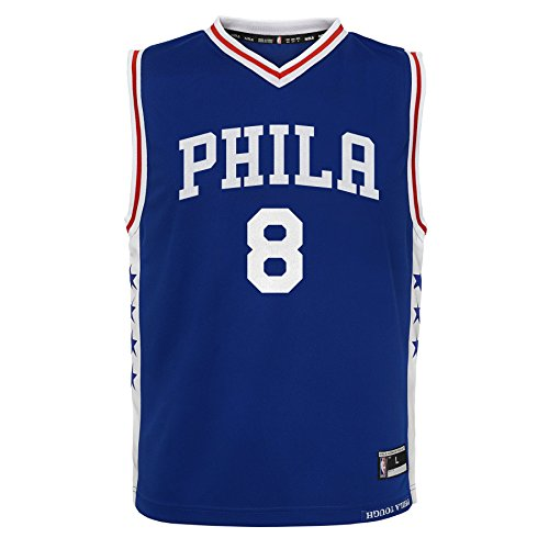 NBA Philadelphia 76ers Jahlil Okafor Youth Boys Replica Player Road Jersey, Large (14-16), Blue