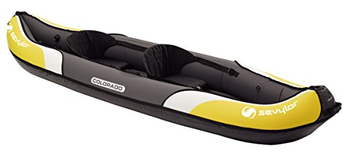 Sevylor Kayak Gonflable Colorado, Canoë Canadien 2 Places, Kayak de Mer, 331 x 88 cm
