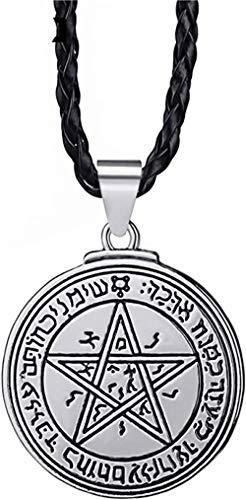 YOUZYHG co.,ltd Colgante de Amuleto Talisma de Venus Solomo Siegel para Hombre con Collar de 61 cm de joyería