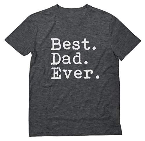 Camiseta masculina sarcástica divertida Best Dad Ever, Heather Dark Gray, X-Large