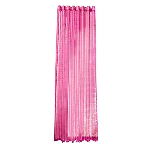 Xmiral Gardine Türvorhang Plaid Tüll Einfarbig Ösen Einfarbig Dekoration Gardine Für Kinderzimmer Wohnzimmer Schlafzimmer(Rosa Rot)
