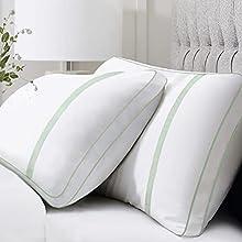 BedStory Almohada Antiácaros 42 x 70cm Almohada Fibra con Relleno 3D Fibra Mantiene la Forma Almohada 70 Pack 2 para Cama Almohadas para Hoteles【Nueva Versión】 Verde
