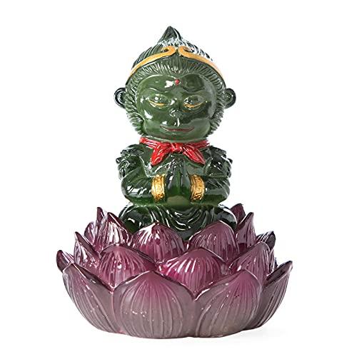 Farbe wechselnde Tee Haustiere und Tee Ornamente der Affenkönig Kreative Kung Fu Teezeremonie Teetisch Tee Tablett Ersatzteile Tee Haustier (Color : (Green))