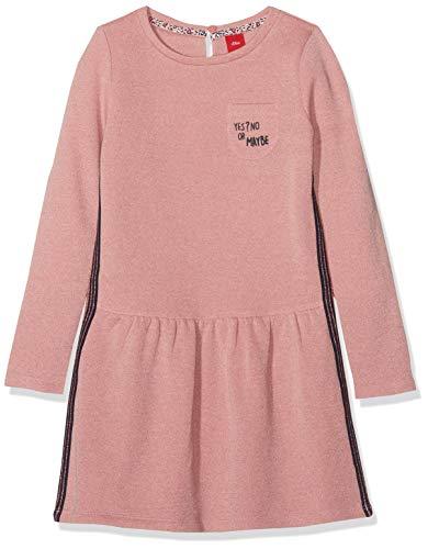 s.Oliver Mädchen 53.908.82.2986 Kleid, Rosa (Light Pink Melange 42w4), 110 (Herstellergröße: 110/REG)