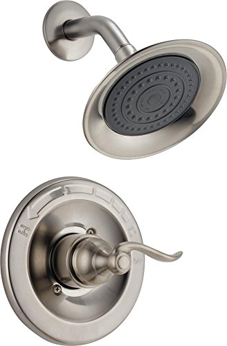 Delta Faucet Windemere Single-Function Shower Trim Kit with Single-Spray Shower Head, Stainless...