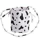 Amosfun 1pc Creative Cow Print Beuteltasche Lady Shoulder Cross Body Bag Beuteltasche