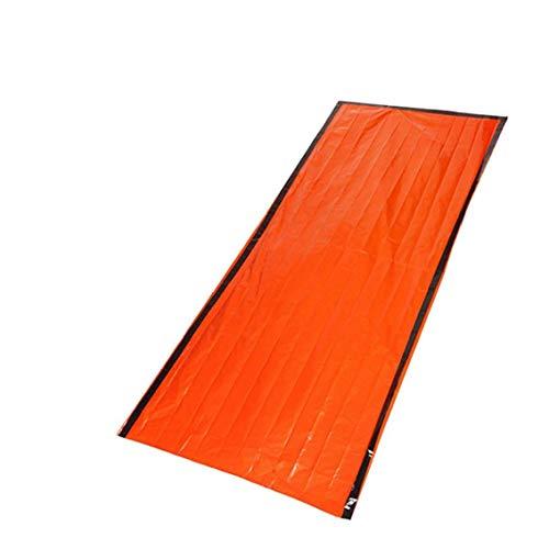 PE Aluminio Salvavidas Saco De Dormir De La Emergencia Portable Saco De Dormir para Acampar Aire Libre Senderismo Escalada Naranja