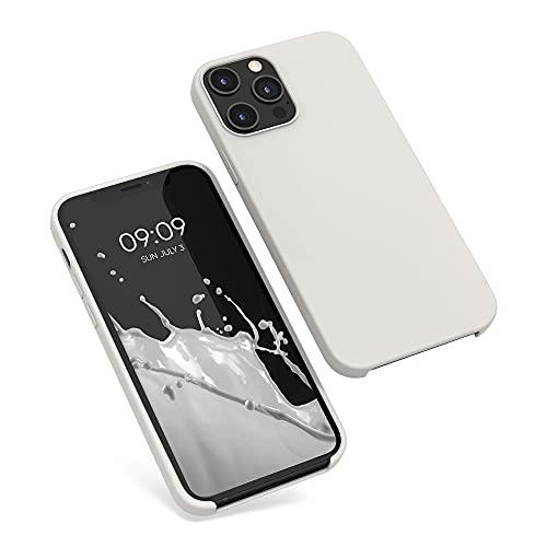 kwmobile Cover Compatibile con Apple iPhone 12 PRO Max - Cover Custodia in Silicone TPU - Back Case Protezione Cellulare Beige Opaco