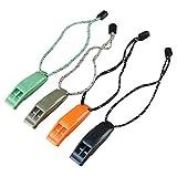 LIOOBO 2 PCS/Set Coach Whistle Silbato de plástico con cordón para Baloncesto Deportes Supervivencia Silbato de Emergencia