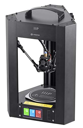 Monoprice 121666 Mini Delta 3D Printer With Heated (110 x 110 x 120 mm) Build Plate, Auto Calibration, Fully Assembled for ABS & PLA + Free MicroSD Card Preloaded With Printable 3D Models