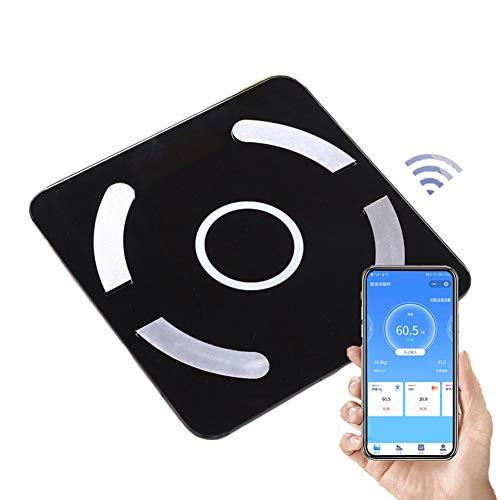 CFFDDE personenweegschaal, personenweegschaal, met USB-oplader, bluetooth-BMI-weegschaal met smartphone 9 gegevens analysator voor fitnesstracker voor gewichtsvermindering