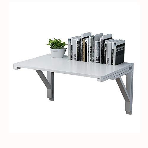 JCCOZ -T Mesa plegable flotante montada en la pared, mesa de comedor con hojas de gota pequeño escritorio de madera para oficina, hogar, cocina, T (tamaño : 70 x 40 cm)