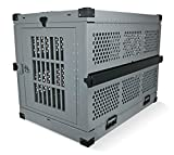 Extreme Consumer Products Extra Large Folding Dog Crate Deluxe - Collapsible Travel Carrier with Reinforced Construction