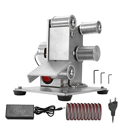 KKmoon Levigatrici a Nastro Temperamatite Multifunzione Mini smerigliatrice a Nastro Elettrico Levigatrice per Lucidatura di Bordi per Affilatura di Coltelli