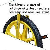 LIfav 16 Zoll Kinder Einrad, Höhenverstellbarer Griffige Reifen Einzel-Runde Gleichgewicht Bike Radfahren, Für Anfänger Kinder Erwachsene Übung Fun Fitness,Blau - 2
