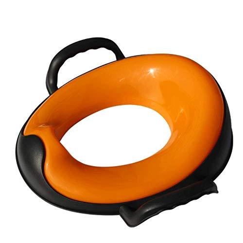 Jokeagliey WC Asiento de Inodoro Plegable Infantil Madera portatil Cierre Suave amortiguado...