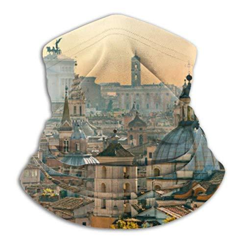 Ahdyr Cache-Cou en Polaire Multifonctionnel Voir Rome Castel Sant Angelo Italie Écharpe, Un Visage intégral ou Un Chapeau, Cache-Cou, Couvre-Visage de Ski, Demi-Couverture, fac