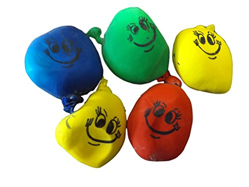 Fat-catz-copy-catz 12x Unique Boys Girls Unisex Small Squishy Faces Happy stretchy stress mood balls Gift Loot Bag Party Fillers Pass the Parcel Pinata Toys