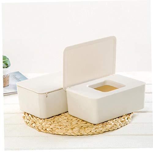 1 dispensador de toallitas para servilletas, caja de almacenamiento con tapa para tocador, encimeras, escritorio, oficina, dormitorio (blanco)