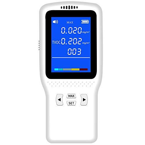 XFHLL Außenluftdetektor, Tragbare High Precision Multifunktions-Gasanalysator Leicht Zu Tragen Atem Alyzer, Für Lufterkennung Für Home-Office-Auto Usw.