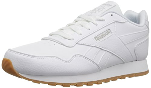 Reebok womens Classic Leather Harman Run Sneaker, White/Steel/Gum, 8.5 US