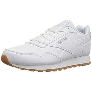 Reebok womens Classic Leather Harman Run Sneaker, White/Steel/Gum, 6.5 US