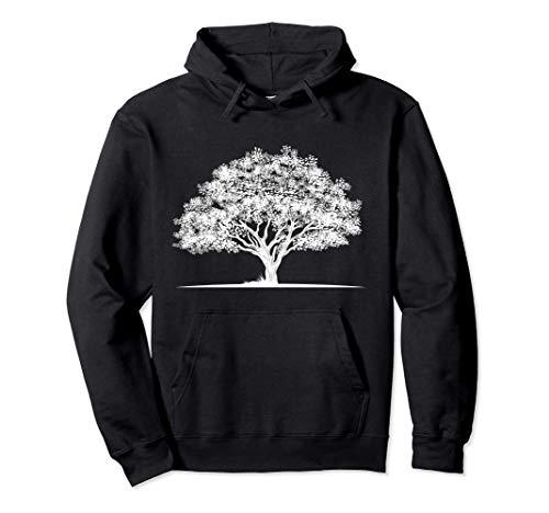 árboles bosque camisa naturaleza minimalista árboles Sudadera con Capucha