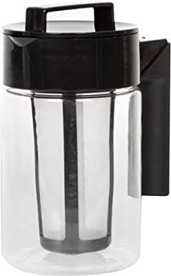 LifeSmart USA Cold Brew Iced Coffee Maker - One Quart - Airtight, Leakproof Lid - Dishwasher Safe - BPA Free - For Use with Coffee Grounds