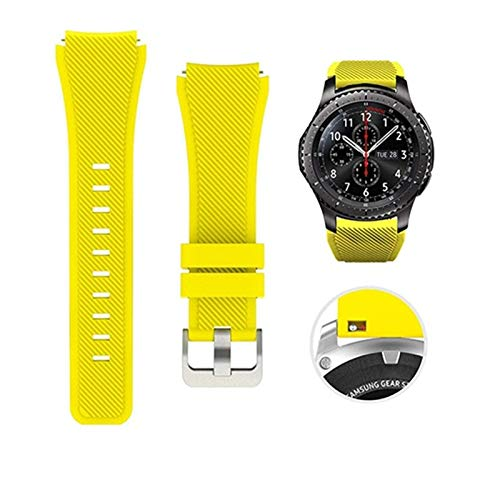 LYDBM Banda de Silicona de 22 mm para Samsung Galaxy Watch 46mm 42mm Correa Deportiva para Samsung Gear S3 Frontier/Clásico Activo 2 Huawei Watch 2 (Color : Color 14, Talla : For Huawei Watch 2)