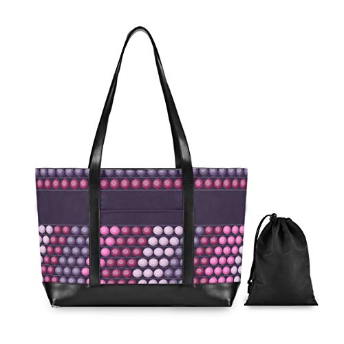 MONTOJ Purple Collection Hoodle Laptop Tote Bag for Women 15.6 Inch Lightweight Computer Laptop Bag