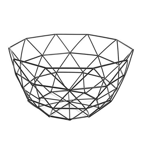 Haodou. Estilo nórdico Hierro Forjado FrutaCesta Fruit Bowl Frutero Frutero de Alambre de Metal Cesta metálica con diseño Abierto