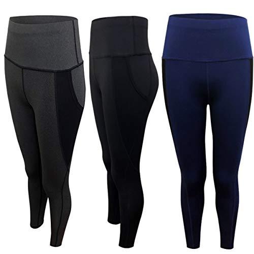 Leggings de cintura alta para mujer Pantalones deportivos de control de barriga