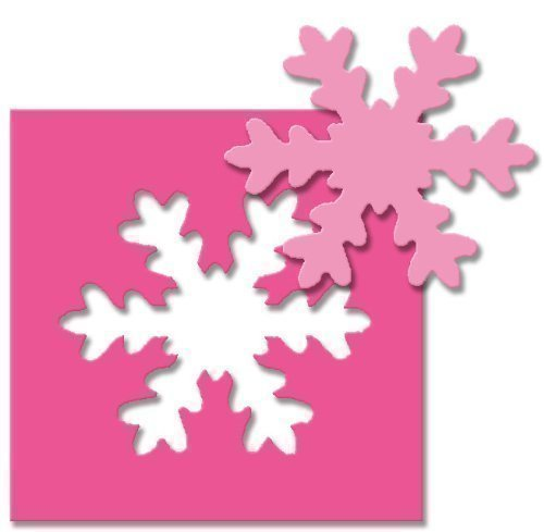 efco Stanzer 3XL, Schneeflocke Motivstanzer, Kern: Metall, pink, 15 x 10,5 x 9 cm