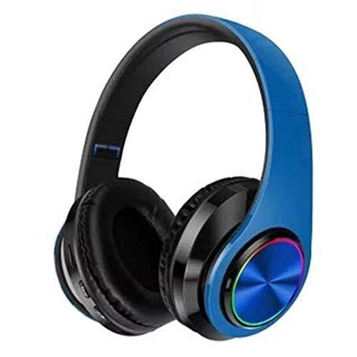 XLLLL Auriculares Bluetooth De Respiración Ligera Auriculares Inalámbricos con Gancho para La Oreja Plegable Auriculares Inalámbricos sobre La Oreja para Viajes Trabajo Y Más,Blue-OneSize