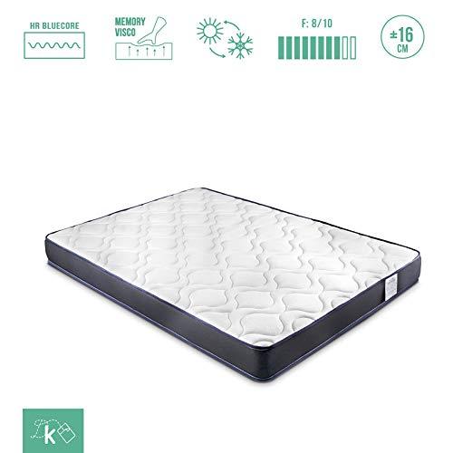 Dreaming Kamahaus Colchón Sense 90 x 180 cm. | Dos Caras: viscoelástica / 3D AIRFRESH | con Fibra hipoalergénica | Transpirable | Reversible | Altura aproximada 16cm |