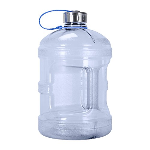 Geo Sports Bottles 1 Gallon w/Stainless Steel Cap (Natural Blue)