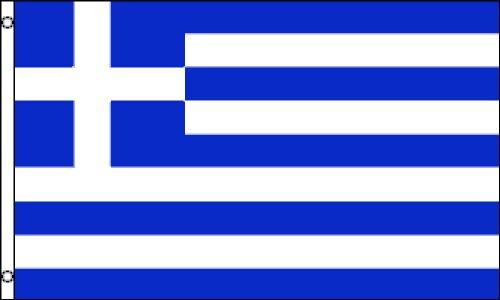 Griechenland National Flagge (Premium Qualität Polyester), 2'x 3'