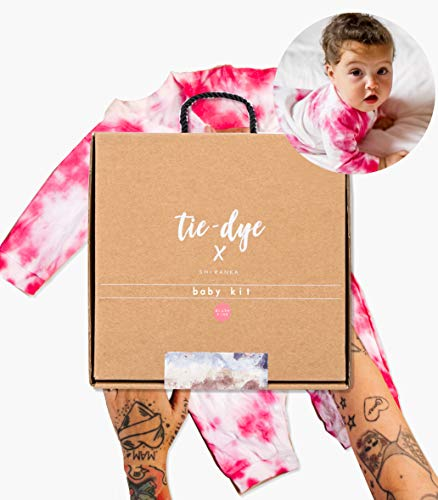 Mini Me Premium Tie Dye Kit, Baby & Adult Clothing Tie Dye Kit, Non-Toxic, Fabric Dye for Clothes with All Supplies Included. Perfect Home Activity with Decorating Dye Ink (Onesie Kit - Blush Pink)