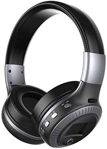XXT Auriculares de Bluetooth inalámbrico Tarjeta estéreo Radio Auricular de Gaming con Micrófono Premium Ruido Cancelación Audio Audio Stereo Bajo Con Lámpara LED Videojuegos Juegos Compatible para PC
