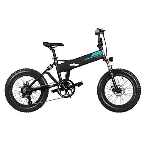 Sansund Entrega 3-7 días, Bicicleta eléctrica Plegable, llanta Gruesa, Aluminio de 20x4...