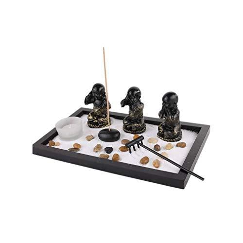 lachineuse Jardin Zen Japonais - Spécial Les 3 Bonzes de Sagesse - Déco Asiatique