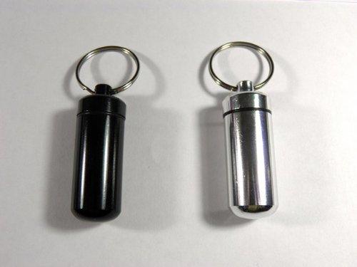 2 Schlüsselanhänger Pillenhalter Medikamentenbox Medikamentenbehälter Geldgürtel
